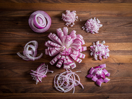 BE BETTER AT SLICING AND DICING ONIONS