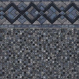 Cobalt Lake Grey Mosaic