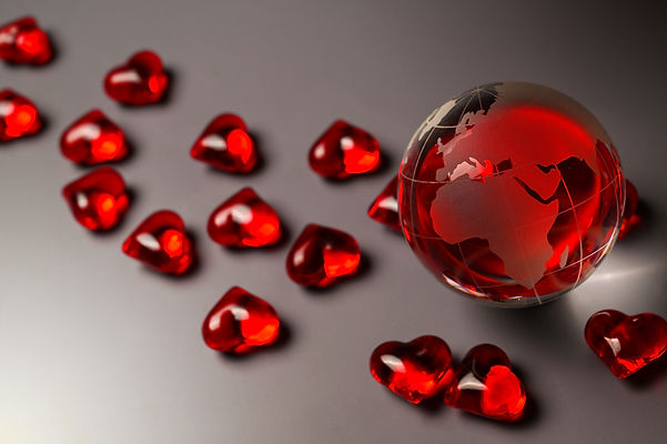 AdobeStock_314477299 Africa Globe Hearts