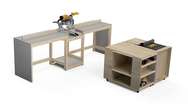 Modular Workbench - Carts Pulled Out.jpg