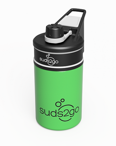 Suds2Go - R3 Black-Green Kid 12oz - FI.p