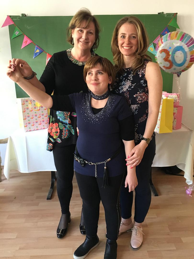 Barbara születésnapi partyján Losonczi Viki és Szappanos Gabi klubtagjainkkal