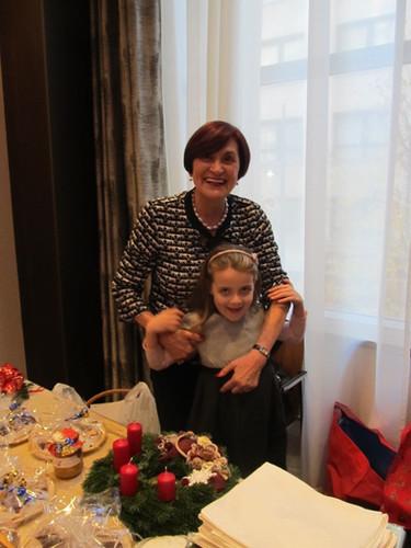 Dohy Judit és unokája Lilla