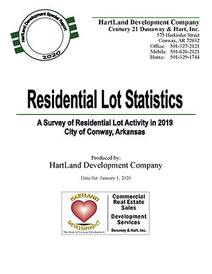 Residential Lot Statistics 2020 for Conw