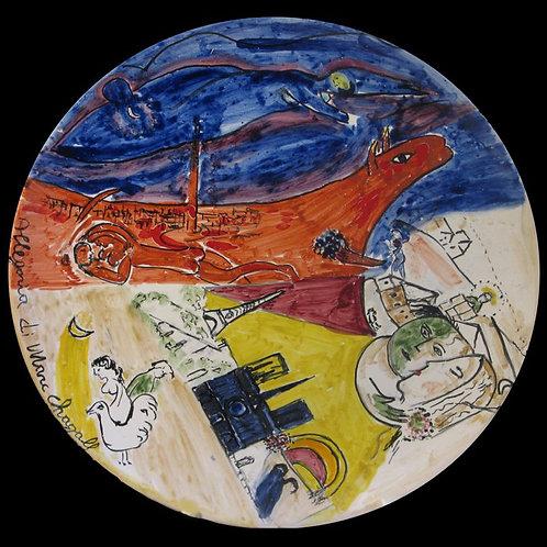"""Piatto """"Allegoria di Marc Chagall"""""""