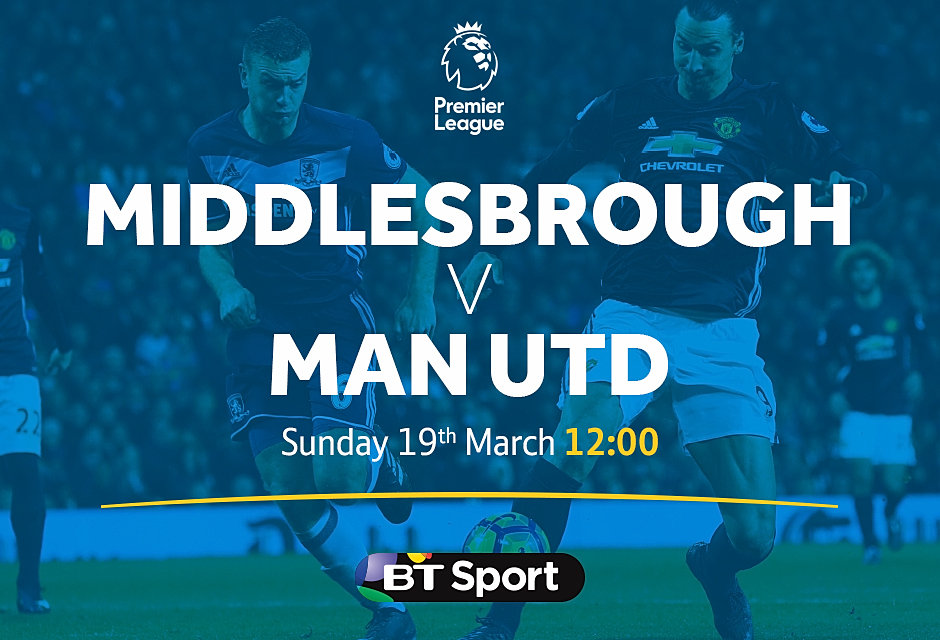 Image result for middlesbrough vs man utd