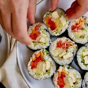 맛있는 김밥 일상 | 5 분 단무지 만들기 | 6 Vegan Gimbap & 5 minutes Danmuji, Korean Pickled Radish