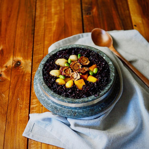 흑미 영양 돌솥밥 | Nutritious Stone Pot Black Rice