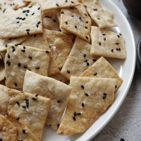 바삭바삭 꼬소한 크래커 만들기 | 비건베이킹 | Black Sesame Cracker | Healthy+Easy!
