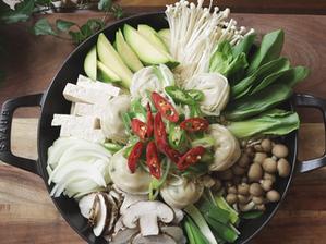 보글보글, 들깨 만두 전골   Perilla mandu jeongol   vegan Korean recipes