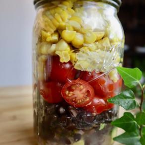 옥수수 샐러드 | 병 샐러드 | Mason Jar Salads for Summer | Corn Salad