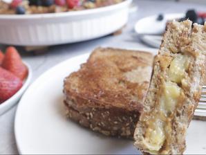 바나나 땅콩버터 토스트 샌드위치 만들기 | 촉촉하고 부드럽고 든든한 토스트 | 비건 프렌치 토스트 샌드위치 만들기