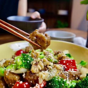 밀고기 만들기 | 밀고기 채소 볶음 | How to make gluten at home | Seitan from my Mom
