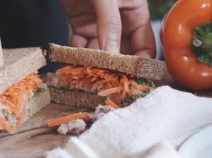 흰 콩 샌드위치 | 으깬 흰 콩+당근 샌드위치 | 흰 콩 스프레드 만들기