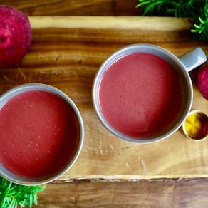 비트 차 | 따뜻한 비트 음료 | How to make beet tea