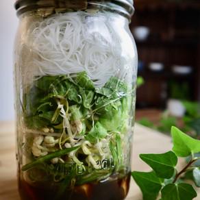 쌀국수 샐러드 | 병 샐러드 | Mason Jar Salads for Summer | Vegan Bún Chay Salad