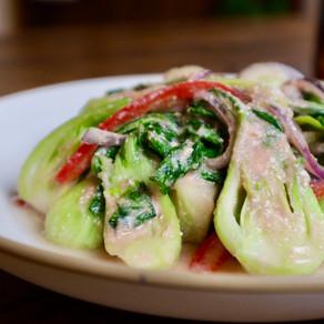 아삭하고 시원한 청경채 겉절이 | 청경채 토마토 무침 | fresh baby shanghai bok choy kimchi salad | easy+healthy