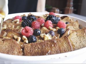 빵으로 만드는 달달한 후식 | 브레드 푸딩 만들기 | 촉촉하고 부드러운 비건 브레드 푸딩 레시피예요!