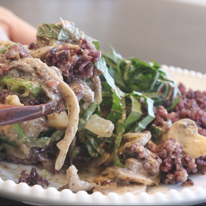 만들기는 참 간단한데, 먹어보면 늘 엄지척! 하게 되는 들깨 버섯 덮밥