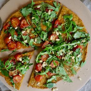 고구마 오트 피자 | 밀가루 없이 | 건강하고 맛있게! | Flourless Vegan Pizza | Easy + Healthy and Yummy!