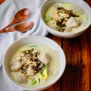 부드럽고 쫀득한 감자 옹심이 | Potato Cake in Cashew Soup