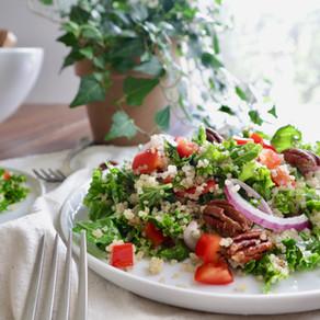 퀴노아 케일 샐러드 | quinoa kale salad | healthy + easy salad