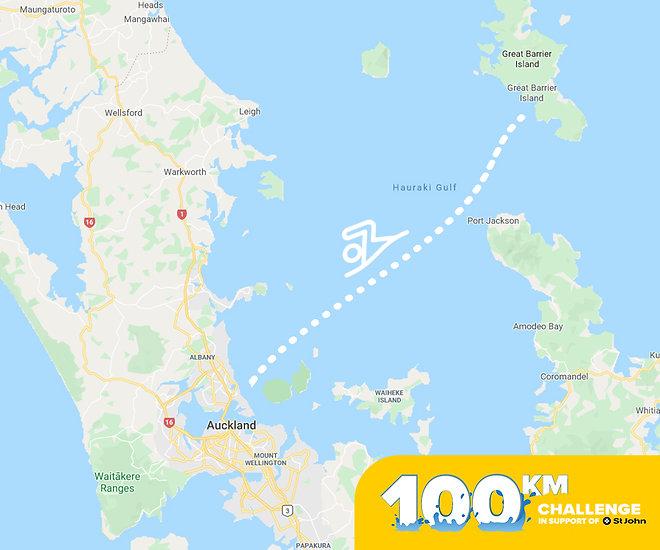 100 km great barrier to takapuna swim