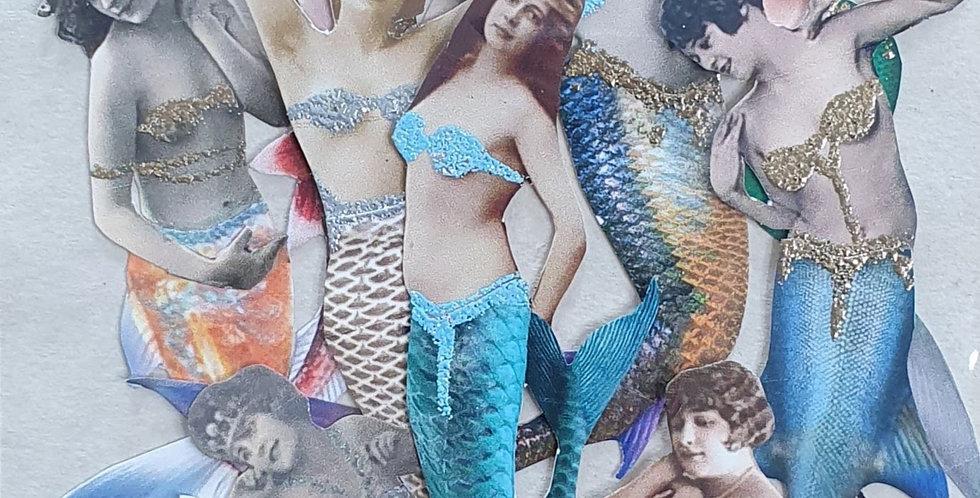 Freshwater Mermaid Paper Dolls