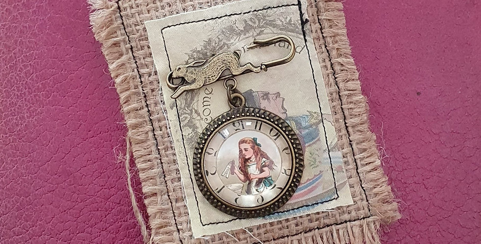 Alice's Adventures Brooch Pin