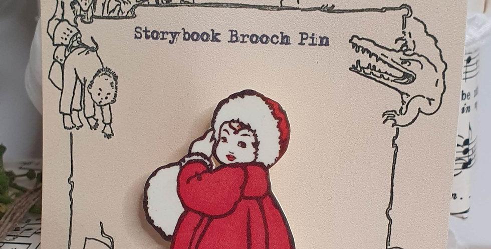 Storybook Brooch Pin