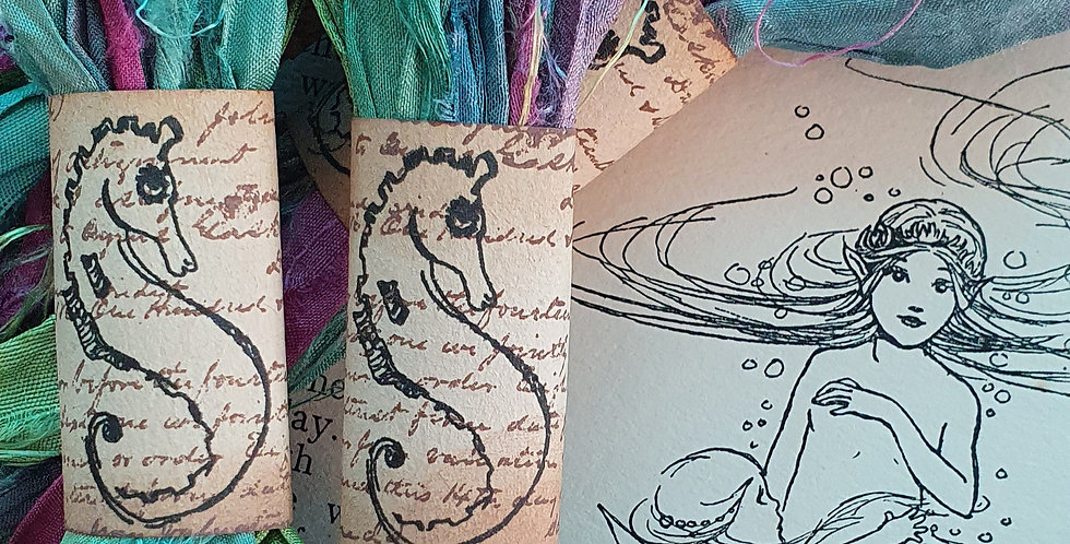 Mermaid Indian Silk Ribbon Bundle
