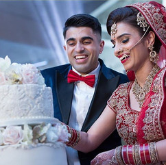 asian wedding bride and groom