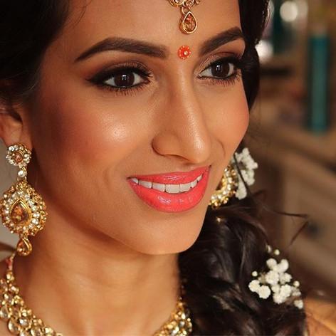 Mehndi hair and makeup
