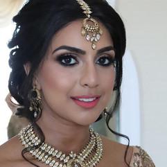 reception asian bridal hair and makeup