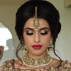 Reception bridal hair and makeup for the