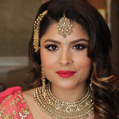 Reception bridal hair and makeup