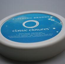 Classic Closures Plastic Lid and Label