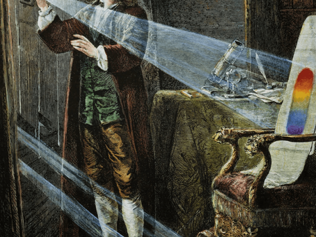 A quarentena, Isaac Newton e as descobertas no campo da óptica