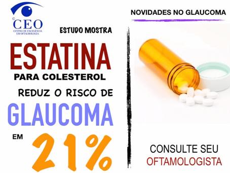 Estatina reduz risco de glaucoma
