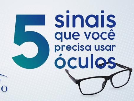 5 sinais que você precisa usar óculos
