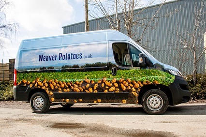Full Colour Printed Wrap -Weaver Potatoes Ltd