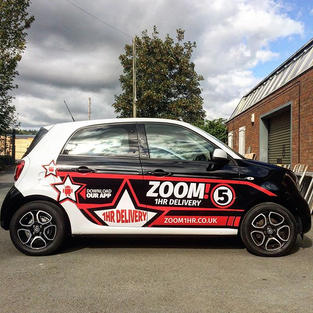 First of a fleet of @zoom__food cars com