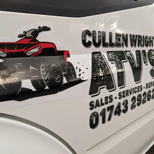 Cullen ATV'S - Rebrand done in house - Clear wrap