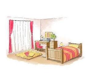 学生のお部屋のイメージ