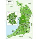 大阪府の地図