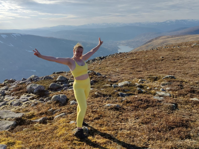 Aoife on top of the world!