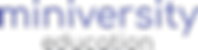 miniversity education text logo.png