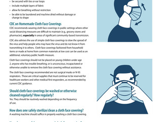 Use of Cloth Face Coverings