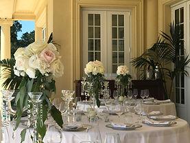Wedding breakfast on the terrace.