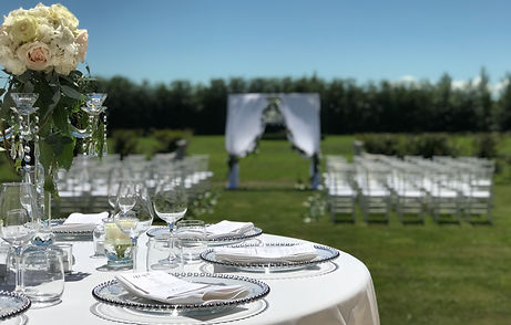 An idyllic setting for a summer wedding.